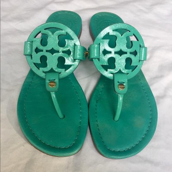 1e25c5751650c Tory Burch Island Turquoise Miller Sandals. M 5b047400b7f72b743c513829